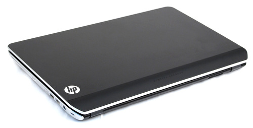 The aluminum alloy lid lends an incredibly solid feel to the dv6, not only in terms of looks but also in build quality.