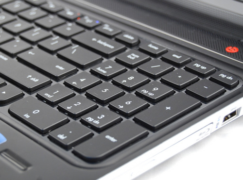 The dv6 is a pretty big machine, and HP managed to add a number pad, which will no doubt appeal to some users out there.