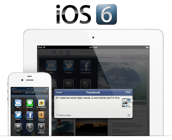 Apple gave a preview of iOS 6 at the annual WWDC event in June 2012