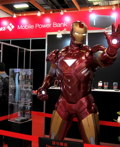 Iron Man - powered by power banks to keep him going!