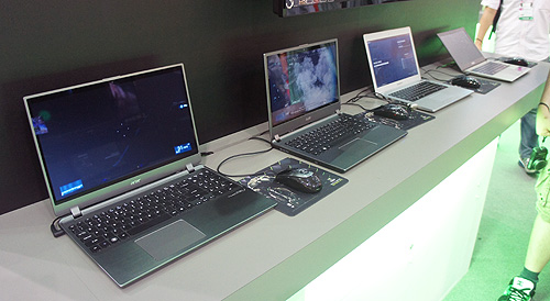 A showcase of new Ultrabooks to use NVIDIA discrete graphics chips to increase their competitive advantage.