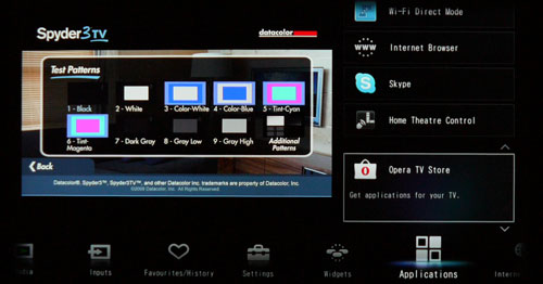 Opera TV Store can be found at the Applications tab. Further up, you'll find the Sony Home Theater Control feature. According to Sony, it enables users to tweak sound field and input settings on compatible home theater systems via the HDMI connection.