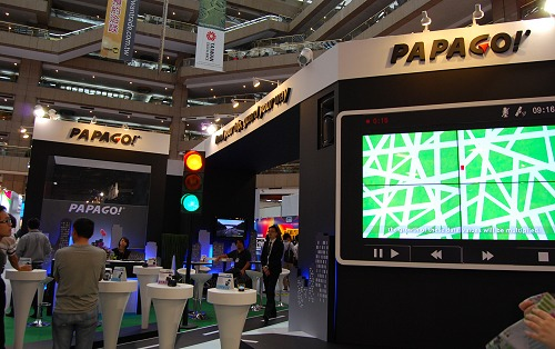 GPS speciality brand Papago! had this interesting setup that attracted attention.