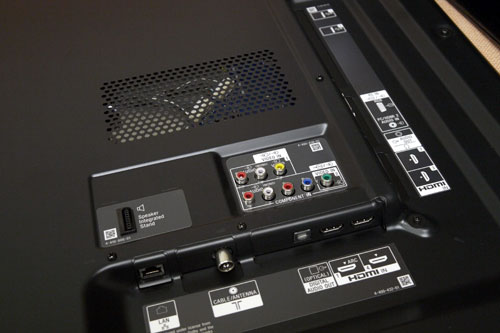 Unlike LG and Samsung, Sony's HX855 still has a number of ports positioned in a rear-facing orientation. Audio Return Channel is enabled on HDMI 1 to deliver upstream audio to the receiver.