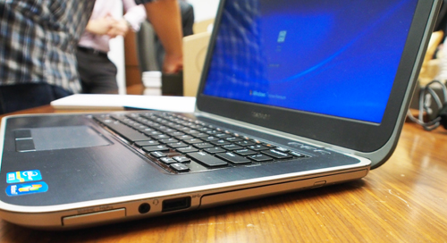 The Inspiron 14z is one of the few Ultrabooks with an optical drive.