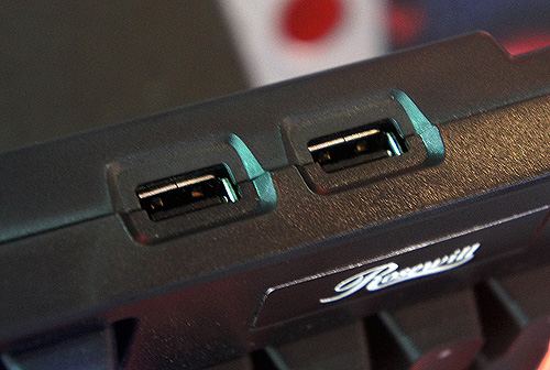 The Rosewill RK-9100 will have two USB 2.0 ports.