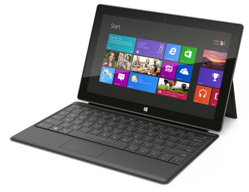Surface tablet shown here with the Type Cover (Image credit: Microsoft)