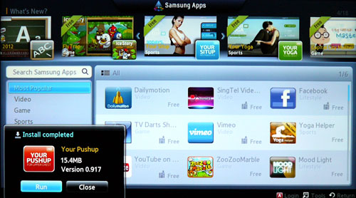 Samsung has an ample apps portfolio but nothing too compelling to show. Video streaming and social media apps like DailyMotion and Facebook will be popular with many we reckon.