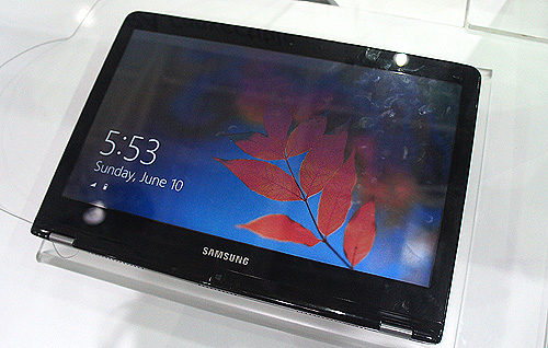 The Samsung Series 5 Ultra Convertible. Convertible, because it can sort of transform itself from an Ultrabook to a tablet.