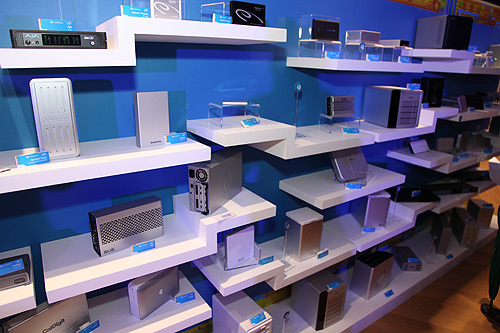 All kinds of Thunderbolt-enabled devices were on display during the event.