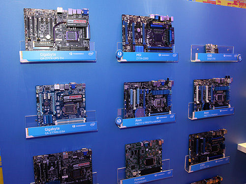 A handful of upcoming motherboards based on the Intel Z77 chipset will come equipped with a Thunderbolt controller.
