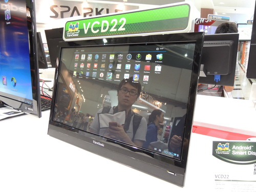 The VCD22 Android Smart Display is basically a huge Android 4.0 tablet. Since it has a microHDMI port, it can also be used as a regular monitor.