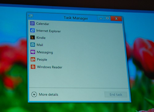 Straightforward and simplified, the new task manager keeps in-line with the whole design revamp of Windows 8. This is especially important if the device in question is a tablet.