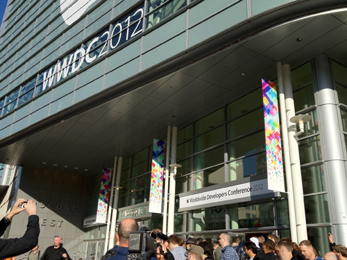 The crowd at WWDC 2012. Tickets were sold out within 2 hours, 5 times faster than the 10 hours it took to sell out last year.