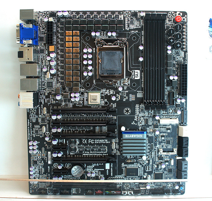 Still in development, this will be the ultimate Z77 motherboard from Gigabyte when it is released.