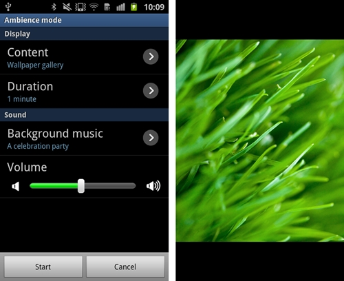 If you are planning to screen a short slideshow of your photos alongside music (your own tracks can be selected), the Ambience Mode will most definitely come in handy.