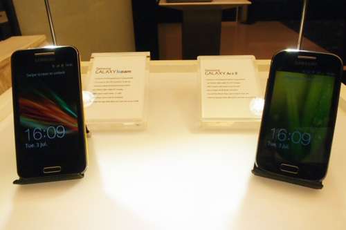 While both phones are loaded with the Android 2.3 OS at the moment, they will be updated to Android 4.0 in Q4 2012.