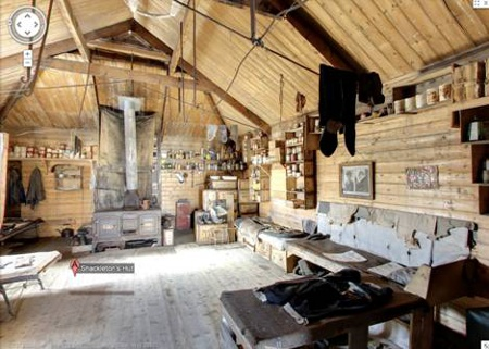 The interior of Shackleton's Hut. (Image source: Google)