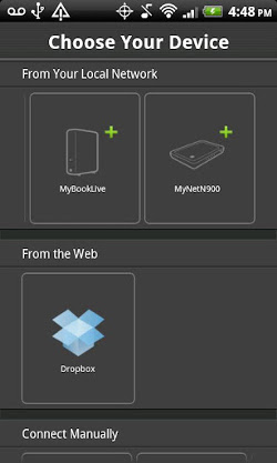 WD 2go mobile app on an Android device (Image source: Google Play)