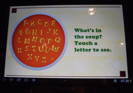 The Alphabet Soup is a simple app by B-Secure Technologies aimed at improving your kid's spelling.