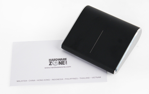 The Wedge Touch Mouse is just over half the size of the average business card.