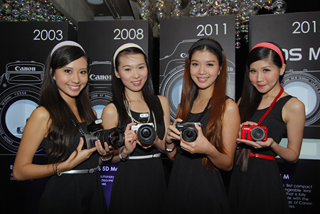 The EOS M comes in four colors; silver, white, black and red.