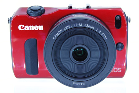 The EOS M comes in four colors; black, white, silver and red.