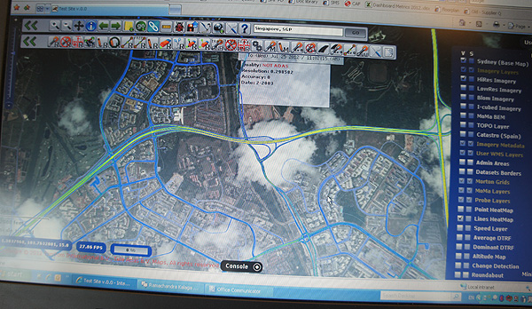 "With Cartopia, one can even see what is known internally as ""probes"". Probes are logged trips made by TomTom users. They contain important information such as direction, speed and time taken. Looking at Singapore, we can see that there's already a fair amount of TomTom users who are contributing to TomTom's ever-growing traffic database."