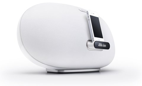 The result is the Denon Cocoon, which looks like a pebble with its sensuous curves.