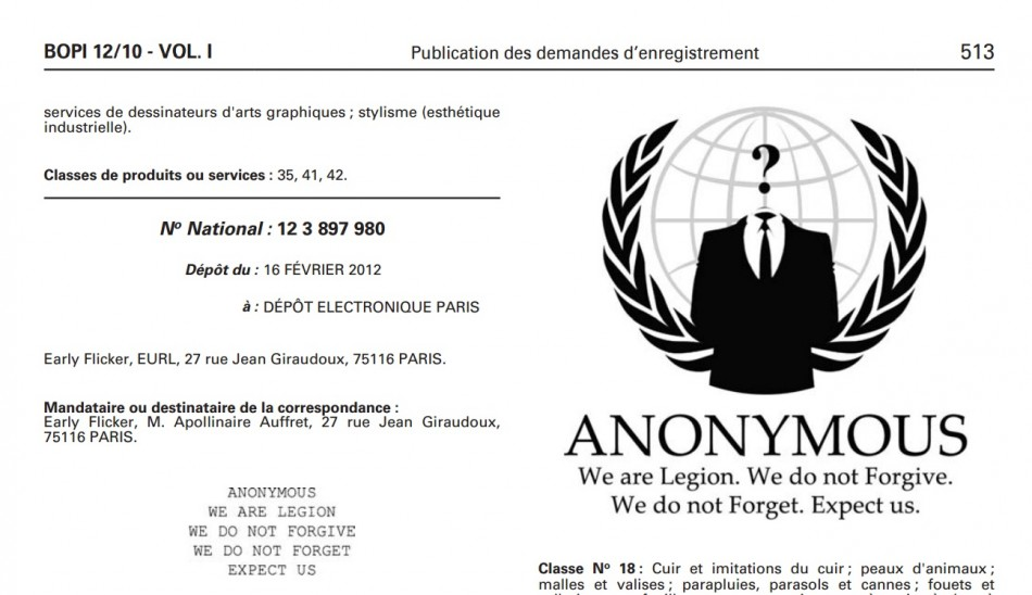 French Retailer Registered Trademark On Anonymous Logo Operation