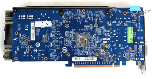 Gigabyte's custom PCB features many upgraded components on it, but they are mostly hidden away and are noticeable only when you tear off the cooler on the other side.