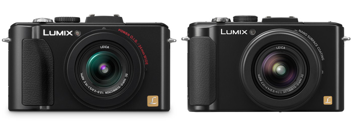 The Panasonic LX5 (left) and the LX7 (right). Image not to scale, the LX7 is a little bigger than the LX5.