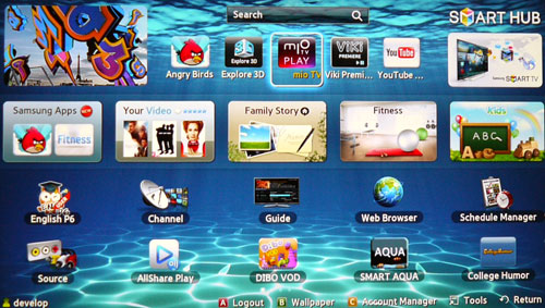 Samsung has added a number of heavyweight apps to their 2012's Smart TV portfolio. How about Angry Birds and Singtel's mio TV PLAY for a start?