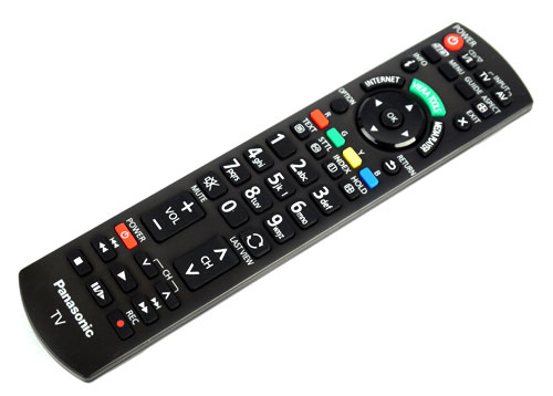 Panasonic's remote comes with a rather dated design, although the clearly labelled buttons and grip-friendly size does redeem its boring looks somewhat.