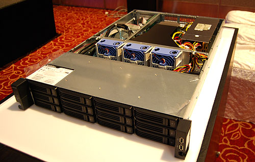 As a teaser, Buffalo also showed us the new TeraStation 7000, which is meant for higher-end SMB owners. This comes only with a 12-bay configuration and will only be launched later this year.