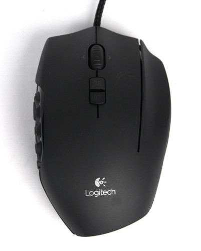 The G600 adds a third click button on the right side of the mouse, making it one of the widest mice we've seen - but not as wide as a trackball mouse.