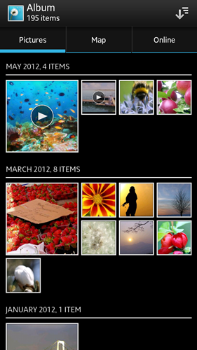 Viewing photos in Album on the Xperia ion is an experience quite similar to that of Google+.