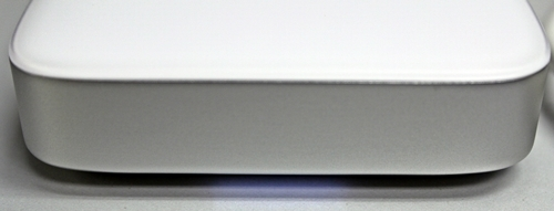 The LED glows unobtrusively from its underbelly, indicating the drive is in operation.