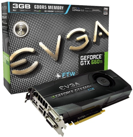 EVGA GeForce GTX 660 Ti FTW+ 3GB (Image source: EVGA)