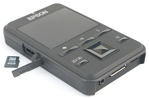 The controller uses a built-in lithium-polymer battery that lasts about six hours of video playback per charge. It also has a microSD card slot for you to expand storage capacity beyond its 1GB of built-in memory.