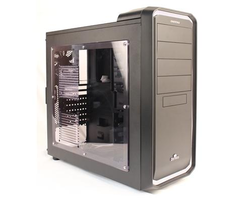 This mid-tower casing has a nice solid feel unlike some entry-level casings where the panels flex due to very thin metal sheets used.