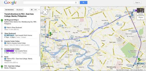 Google Maps Now Shows How to Travel around Metro Manila by Train ...