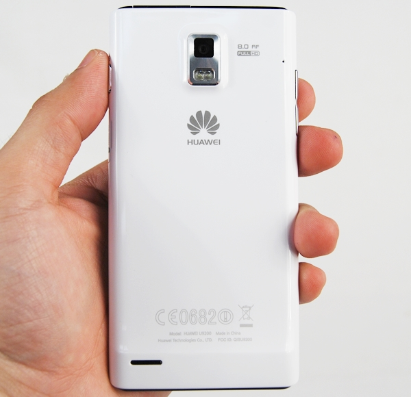The Huawei Ascend P1 is clad in a plastic shell which looks somewhat decent. However, you will have a hard time keeping fingerprints and smudges away from the glossy surface of the device.