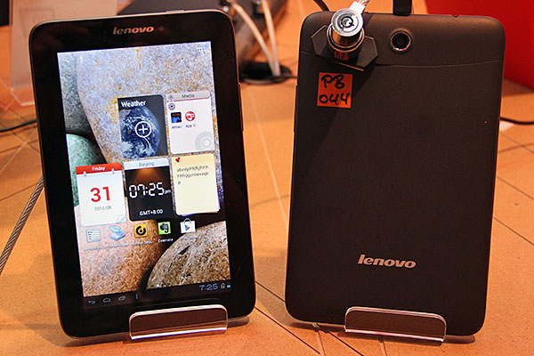 The A2107 comes with a 2MP rear-facing camera, a pretty low resolution by today's standards. Lenovo is positioning this tablet as an on-the-go browser and reader.