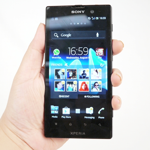 The Xperia Ion, finally available for retail in Singapore.