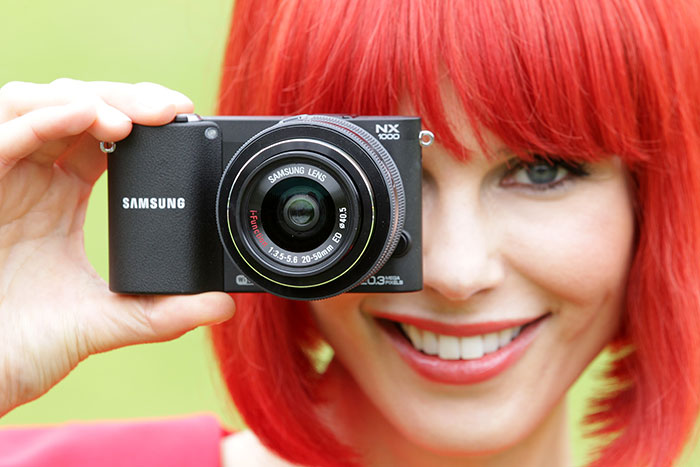 Miss IFA with the Samsung NX1000 mirrorless camera. (Image source: IFA.)