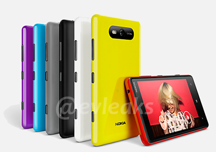 The Nokia Lumia 820. <br> Image source: evleaks