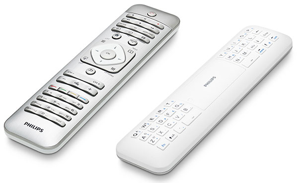 The Philips 9000 series comes with a new remote control that has a keyboard at the rear for easy text entry.