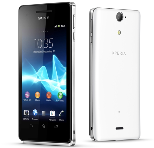 Sony Xperia V <br> Image source: Sony