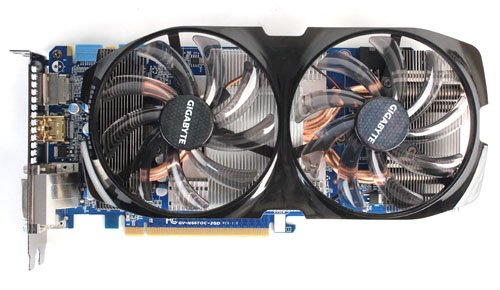 Gigabyte's Windforce cooling system utilizes two large fans.